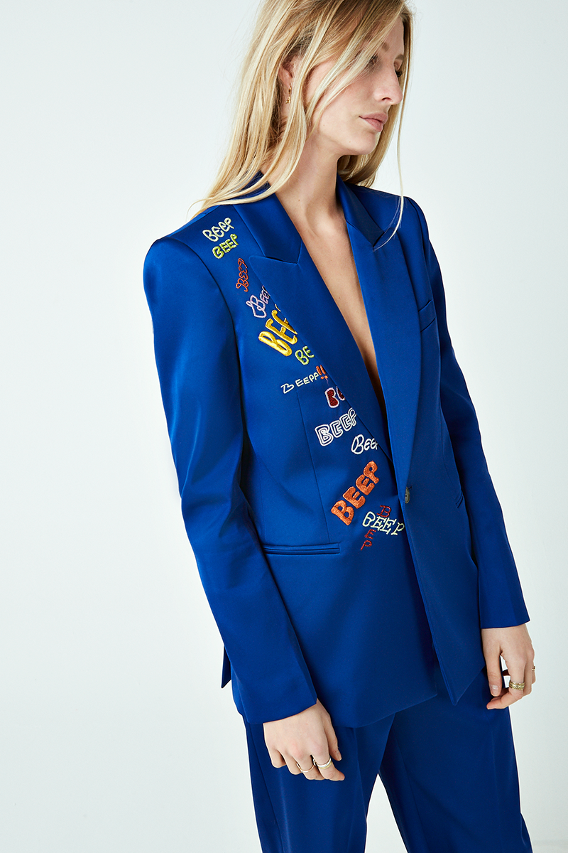 Beep Beep Embroidered Tux Jacket