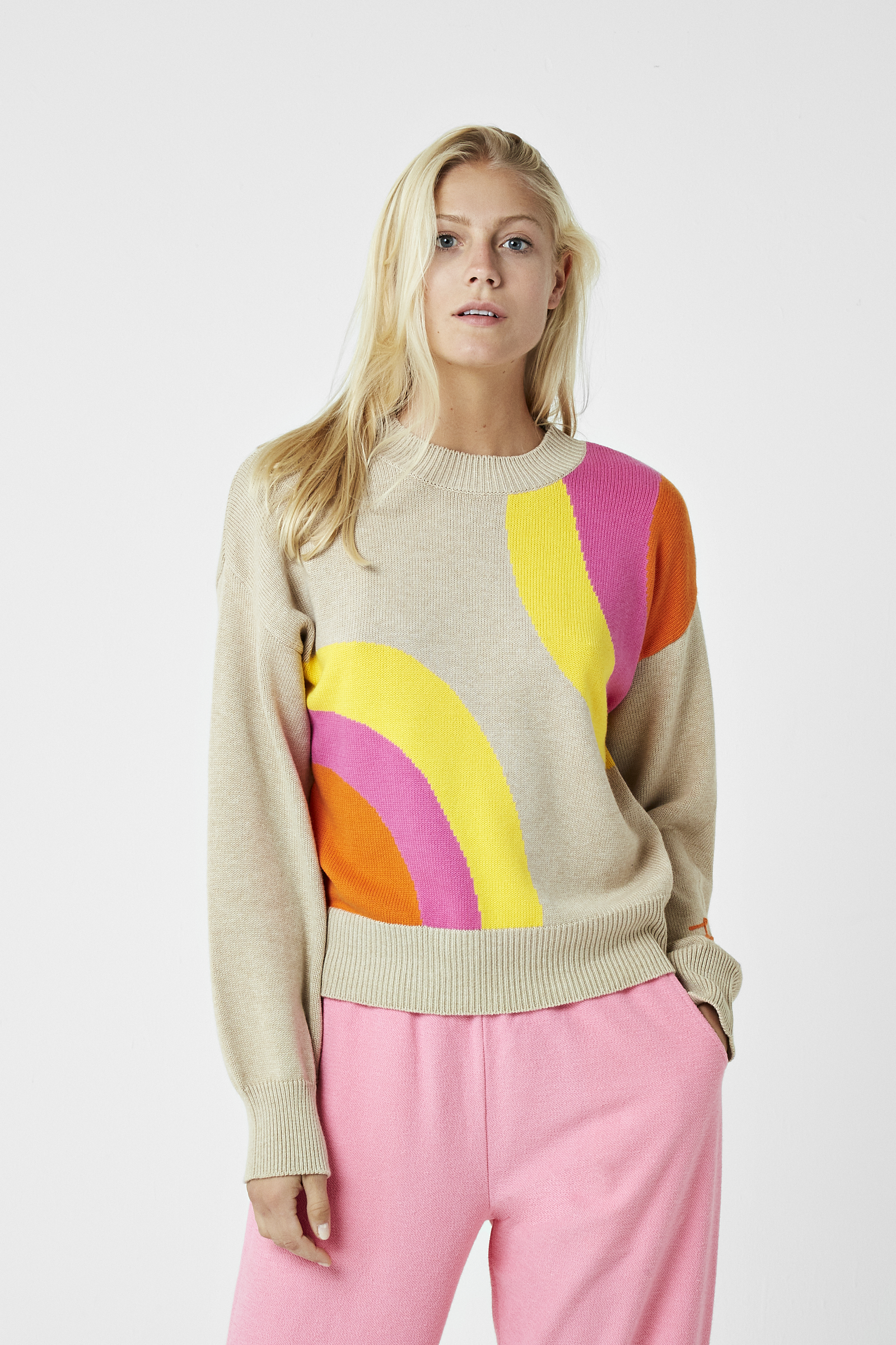 Soul Rise Embroidered Intarsia Jumper