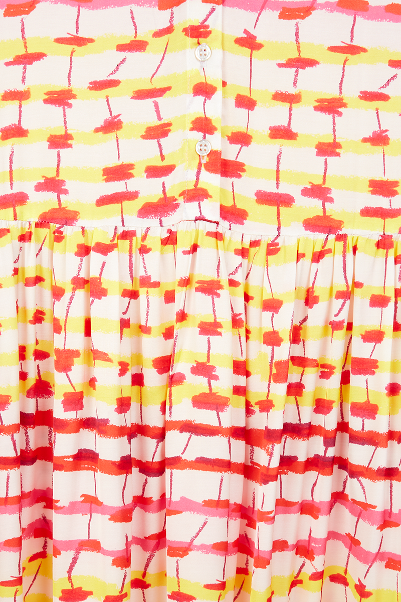 Sunset Grid Maracas Dress