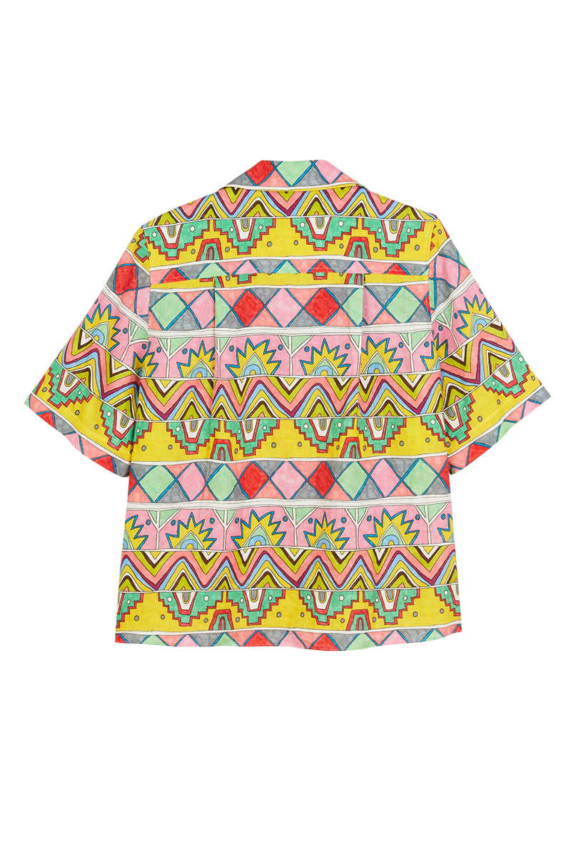African Ribbon Short Sleeve Shirt