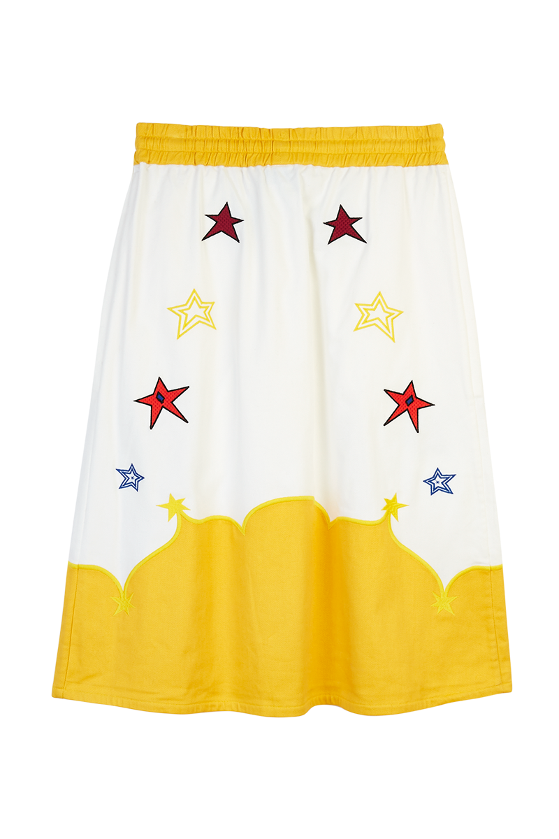 Cowboy Star Embroidered Skirt