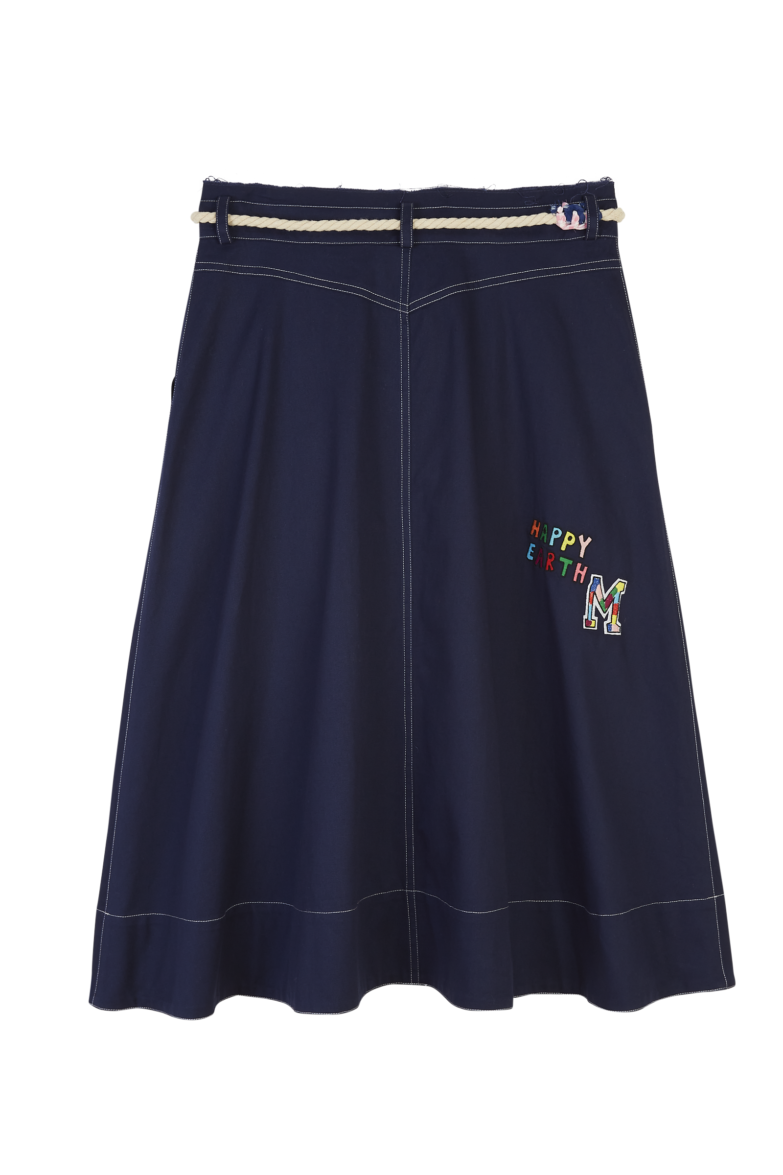 Embroidered Patch Craft Belt Skirt