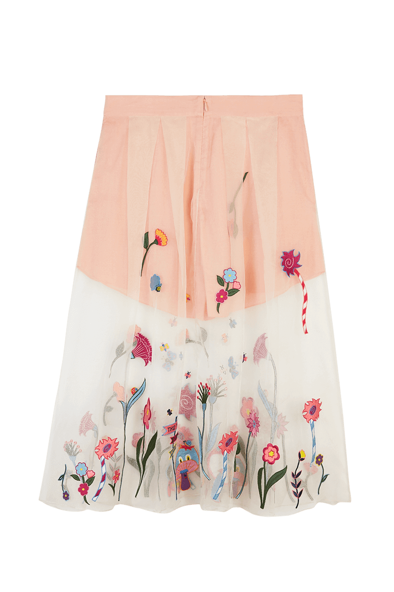 Organza Embroidered Skirt