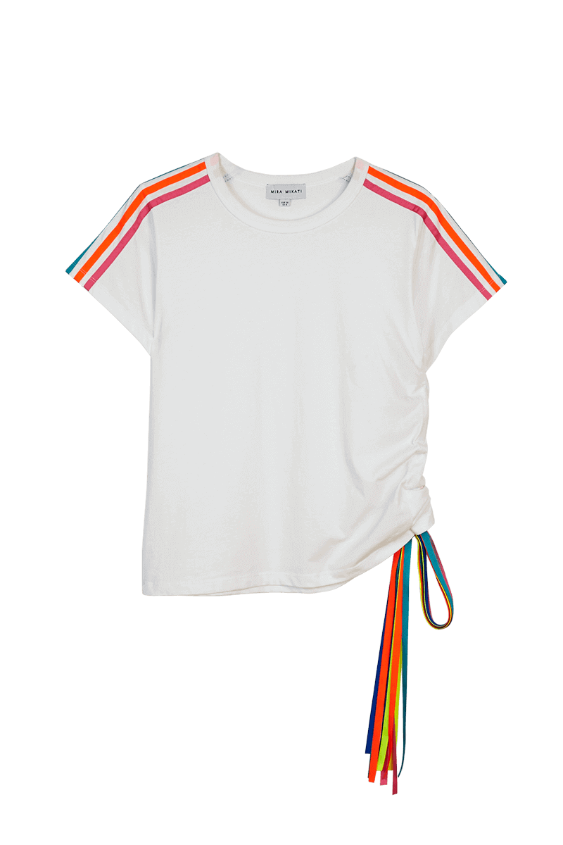 Side Ribbon T-Shirt