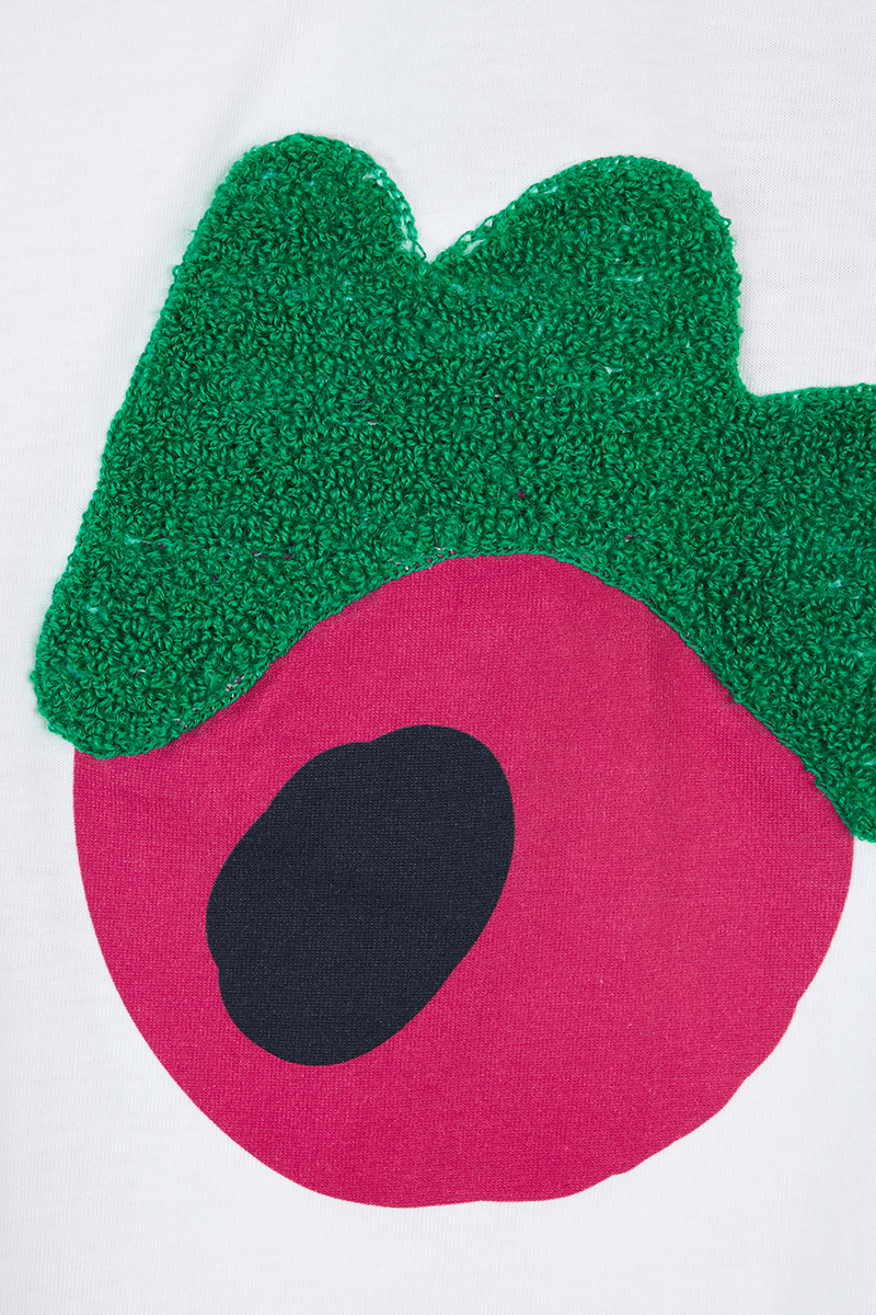 Monster Print Embroidered T-Shirt detail