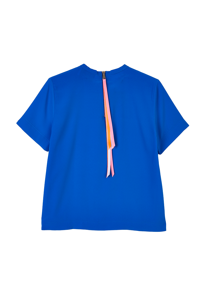 Ribbon Zip T-Shirt