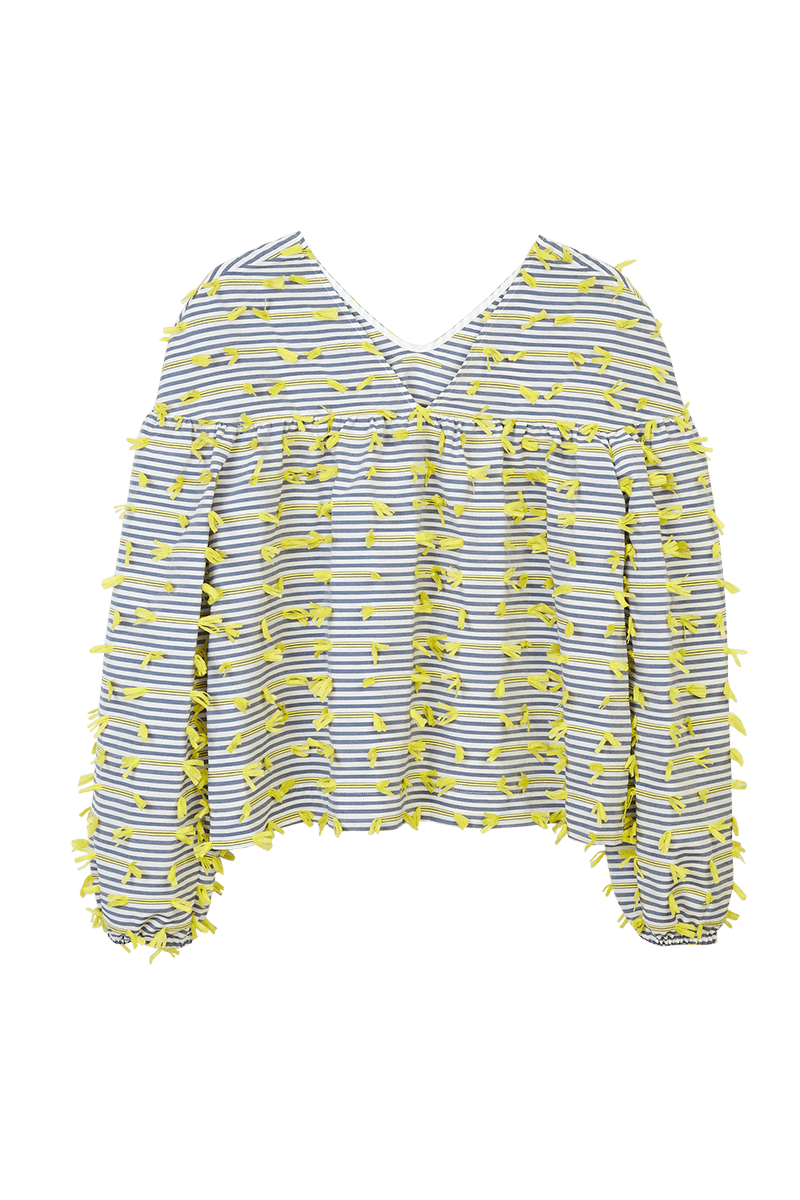 Striped Tape Appliqué Trapeze Top