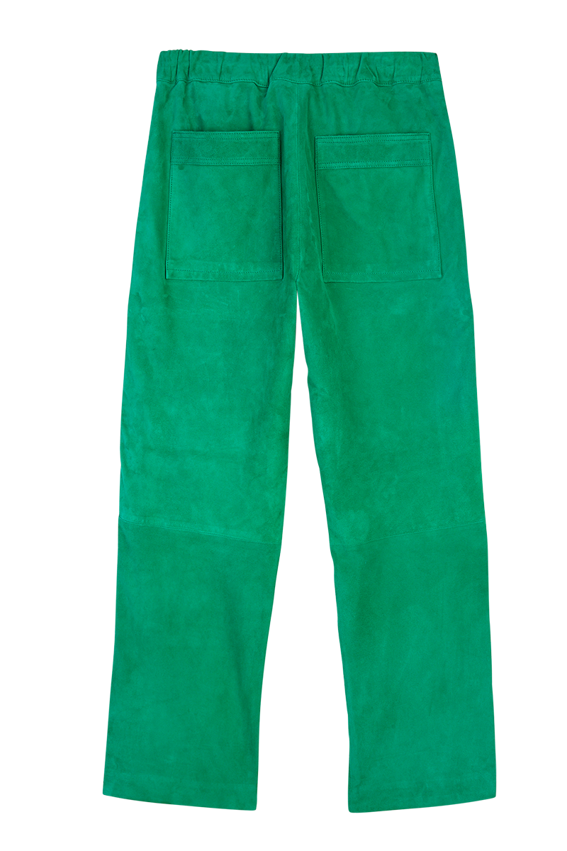 Suede Straight Leg Trousers