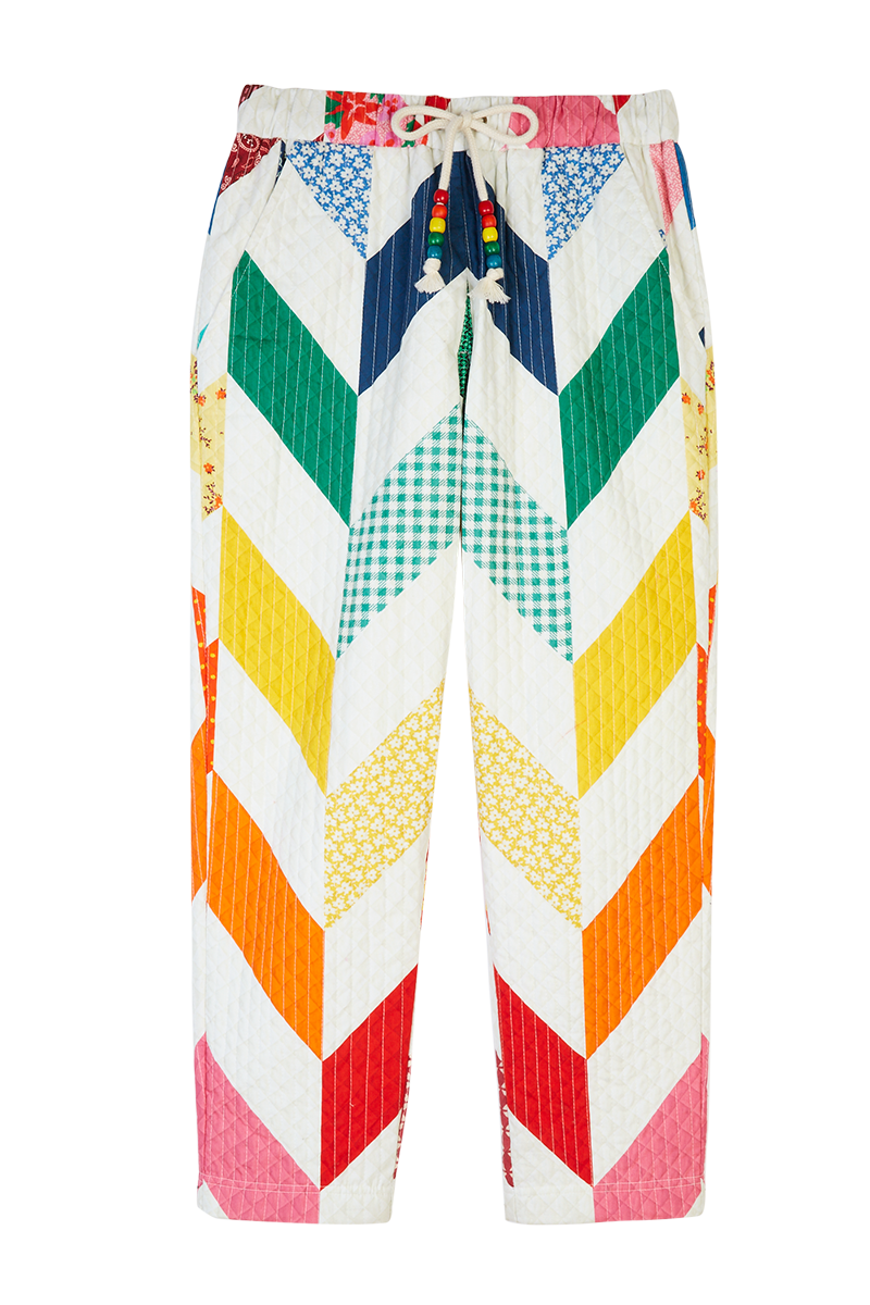 Rainbow Chevron Quilted Trousers