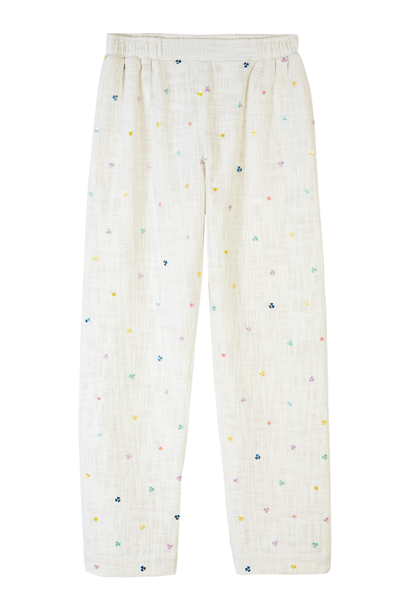 Flower Beaded Pyjama Trousers