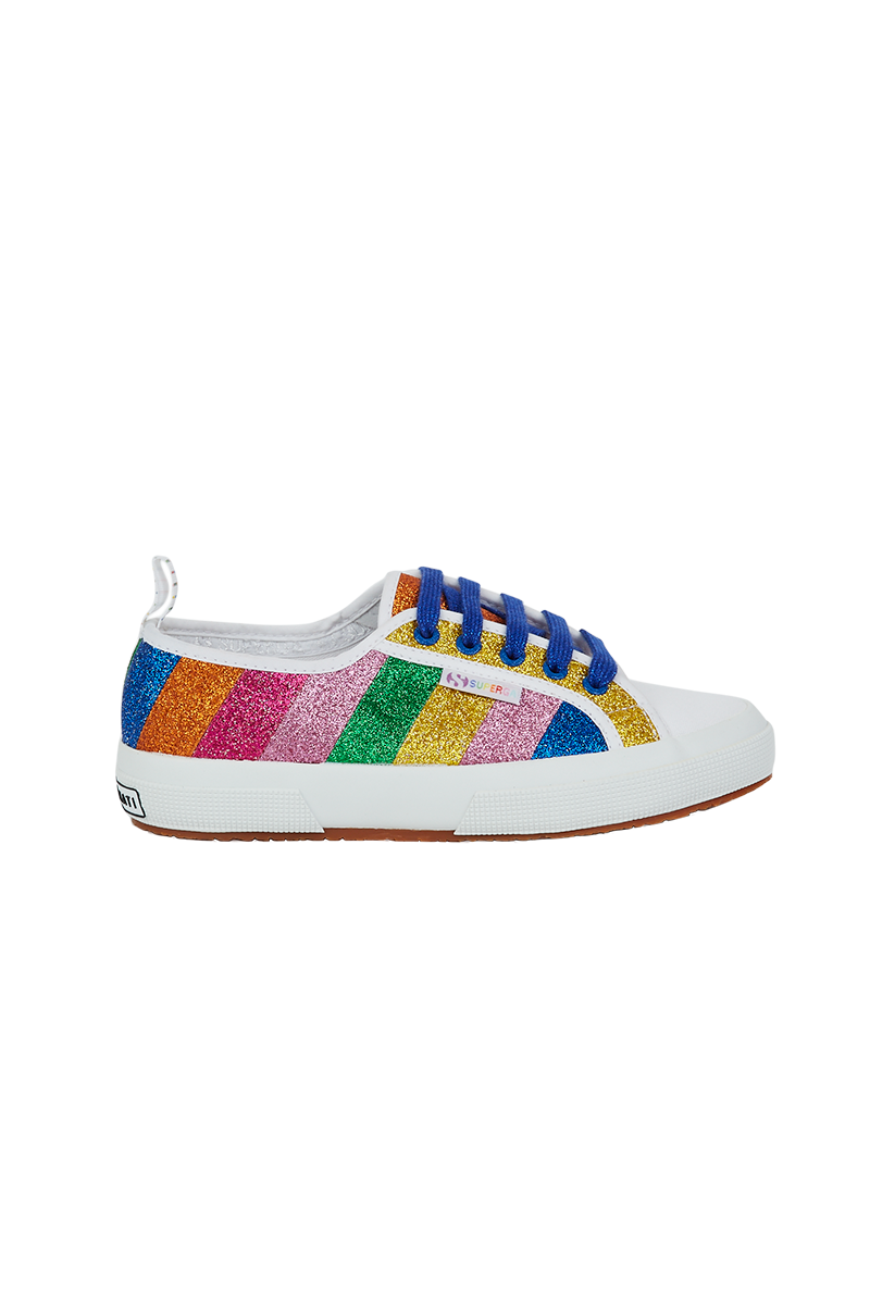 Glitter Multi-Stripes Superga