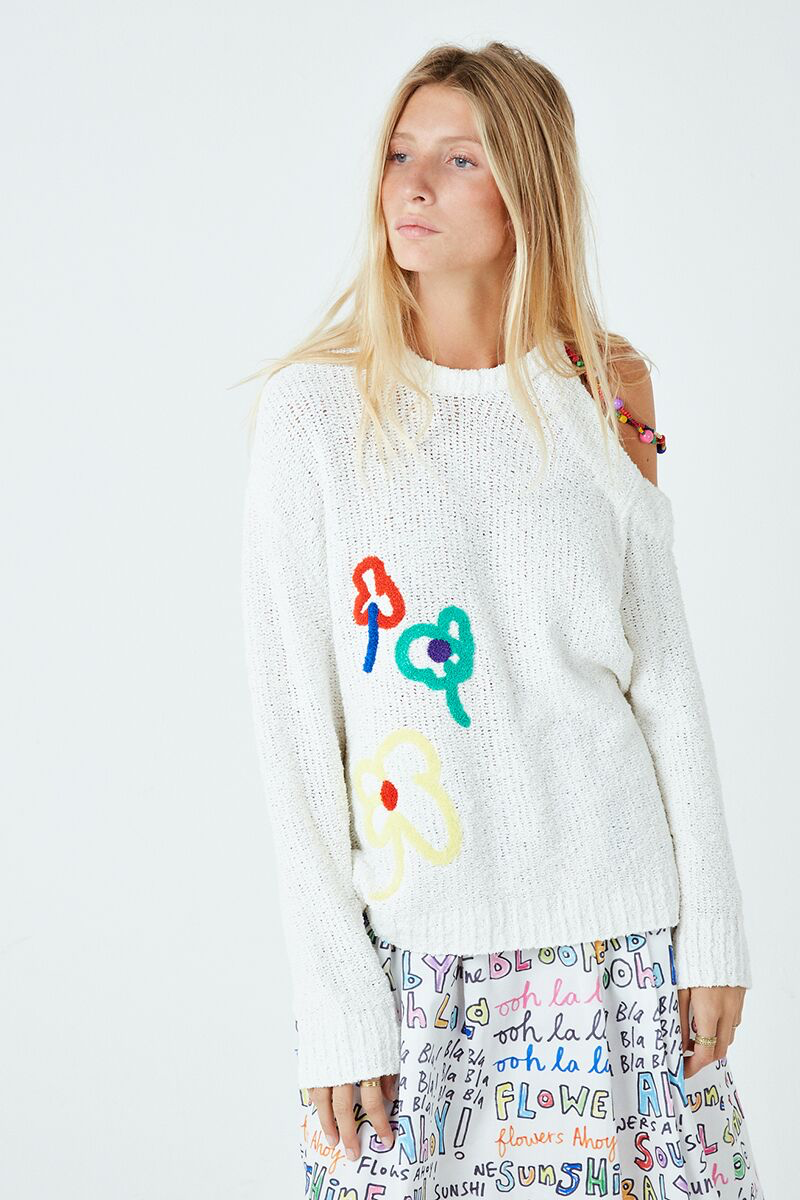 Ooh La La Cold Shoulder Sweater