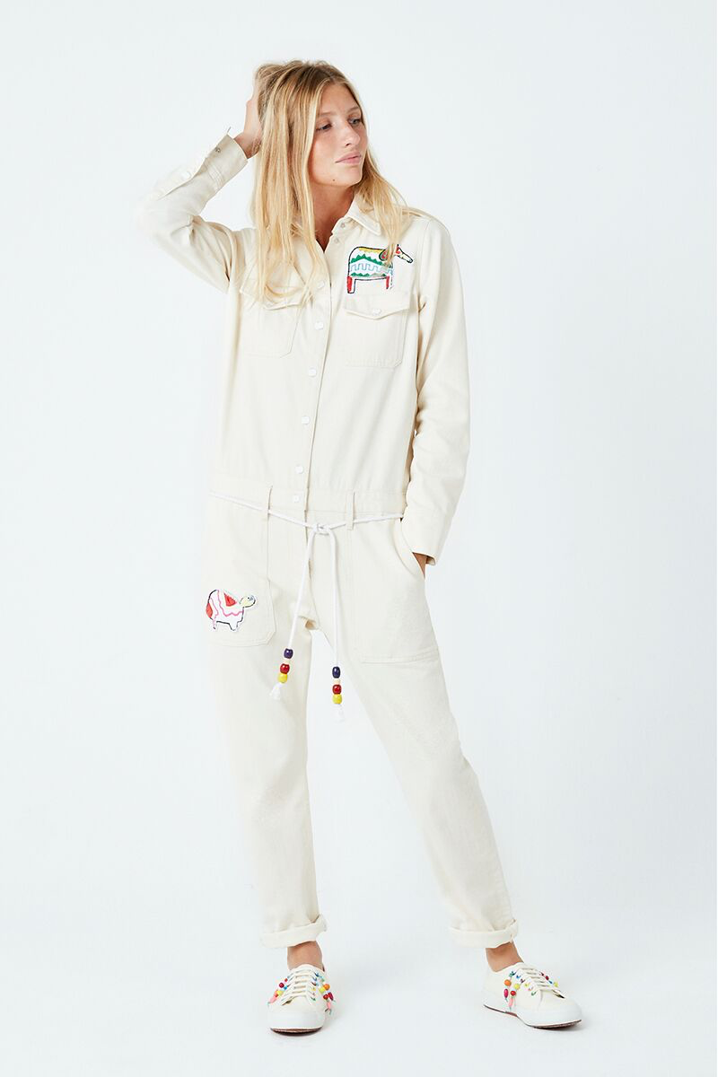 Denim Safari Patch Boiler Suit