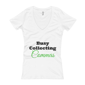 Collecting Commas V-Neck Tee