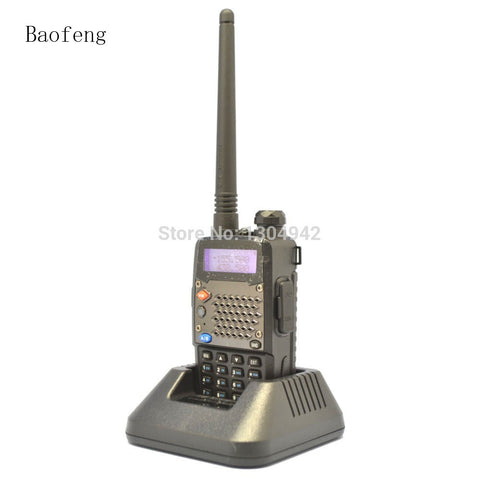 2PCS Black BaoFeng UV-5RD Amateur Ham Dual Band Two Way Radio VHF/UHF 136-174 & 400-520 MHz Walkie Talkie With Free Shipping