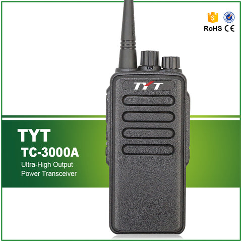 10W High Power VHF Ham/ Amateur Handheld Transiever.  TYT TC-3000A