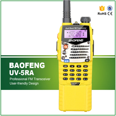 BAOFENG New 5W Dual Band  Amateur Handheld UV-5RA with Long Life Battery UHF/VHF 128 Channels FM Ham Walkie Talkie