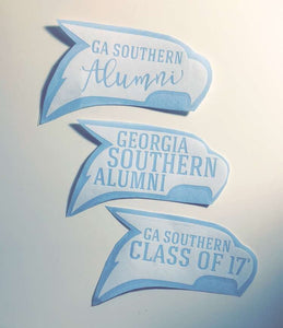 Georgia Southern decal, Georgia Southern alumni, GA Southern mom, GATA, car decal,yeti cooler monogram decal, laptop decal, Hail southern!