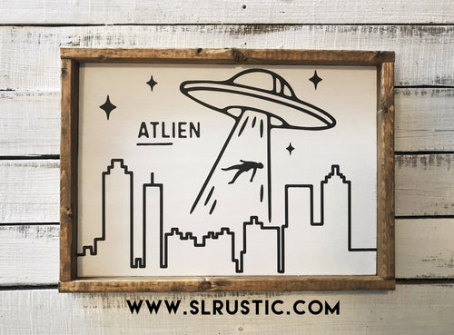 Atlien wood sign - Atlanta