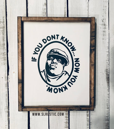 Notorious BIG wood sign - biggie smalls