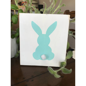Easter Bunny reclaimed wood sign - Easter wood sign