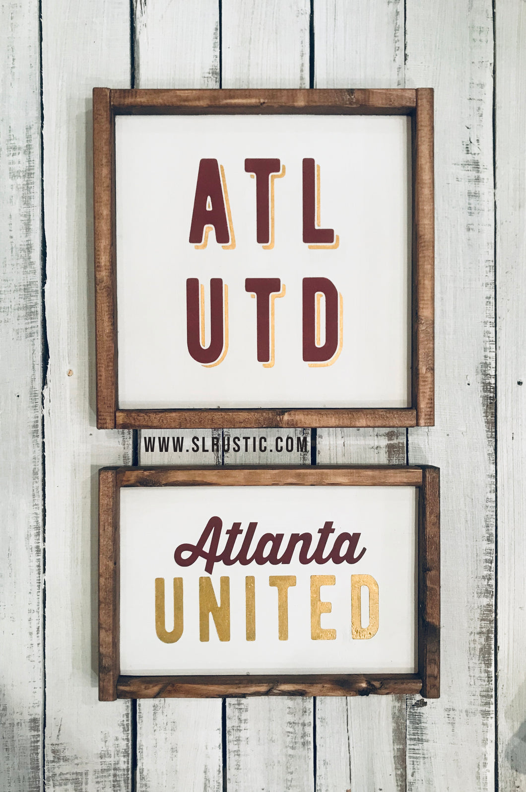 Atlanta United Wood Sign