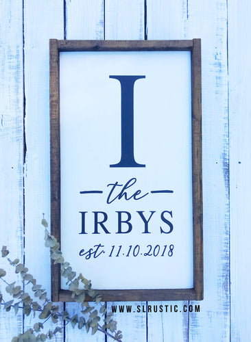 Established wood sign - Wedding sign