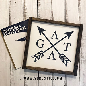 Georgia Southern Wood Sign - GATA