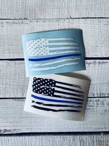 American Flag Decal Thin Line Decal