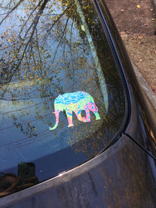 Lilly Pulitzer inspired elephant decal, yeti cooler decal, laptop decal, Car decal, yeti decal