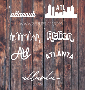 Atlanta Atlien Decal Stickers