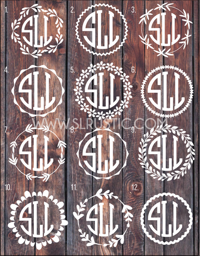 Monogram Decal circle monogram car decal yeti decal