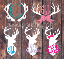 Deer Antler Monogram decal car decal yeti decal hunting decal