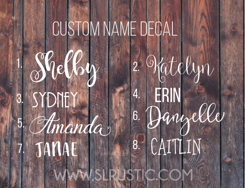 Custom name decal, Personalized name decal, car decal, yeti cooler decal, laptop decal.