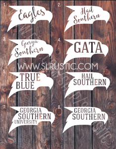 Georgia Southern decal, Hail Southern, GATA, car decal, yeti cooler monogram decal, laptop decal, Hail southern!