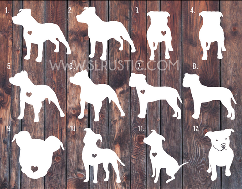 Pitbull decal, pitbull sticker, Love a bull, car decal, pitbull parent, dog decal.