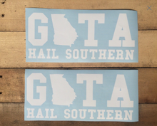 Georgia Southern decal, Georgia Southern sticker, GATA, car decal,yeti cooler monogram decal, laptop decal, Hail southern!