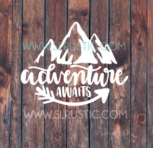 Adventure decal explore decal car decal yeti decal adventure awaits