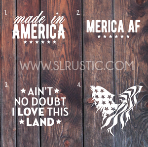 Patriotic decal America decal USA decal car decal yeti decal American Flag eagle