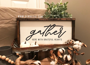 Gather Here wood sign - Fall