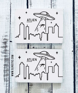 Mini Atlien wood sign - Atlanta