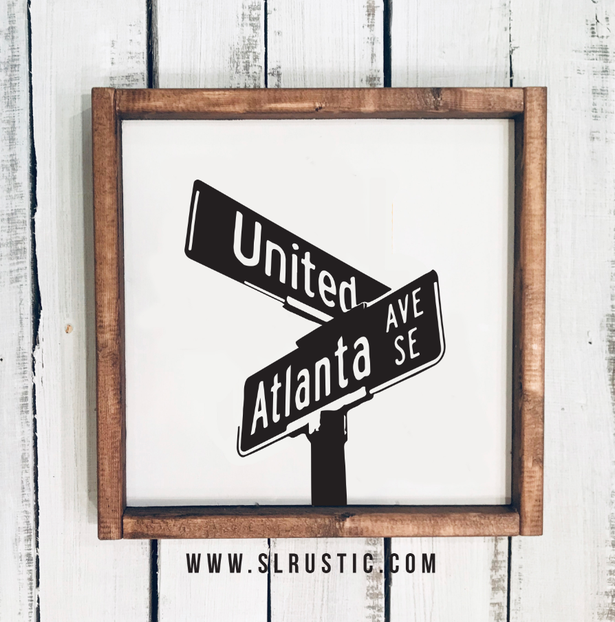 Atlanta United Street Sign Wood Sign