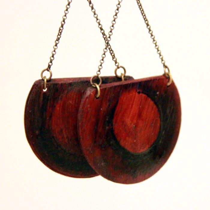Sliced Domed Earrings