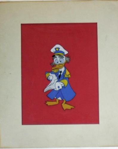 Admiral Ludwig Von Drake original production Disney cel Art Corner circa 1964