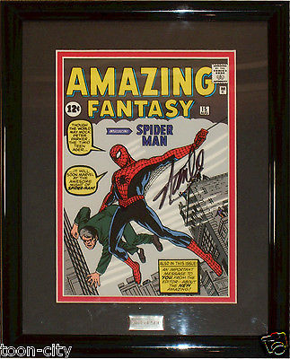 Amazing Fantasy Spider man Signed Stan Lee Limited Exceisior Approved COA cel