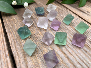 Mini Fluorite Octahedron Crystal Diamond