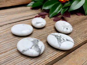 White Howlite Palm Stone