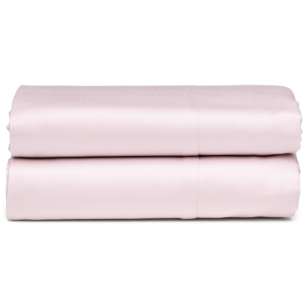 Blush Organic Flat Sheet - Square Flower