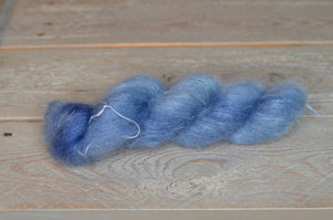 Faded Denim on Mohair-Silk Lace Weight