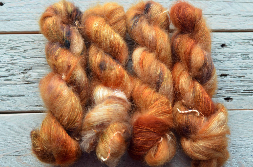 Fistful of Pennies on Mohair-Silk Lace Weight